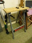 A Power Devil collapsible work bench