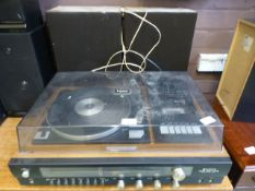 A Sanyo turntable, tape deck etc.
