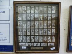 A framed and glazed cigarette card collection 'Kings Of Speed' issued 1939