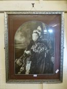 A framed and glazed photograph print of Queen Victoria CONDITION REPORT: This is a
