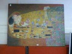 A oil on canvas after Klimt A/F
