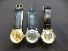 A bag containing three modern gentleman's watches by Rotary
