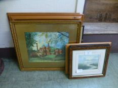 A selection of framed and glazed prints of various subjects