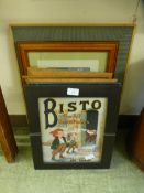 A selection of modern framed and glazed prints being of advertising basis such as Bisto, OXO,