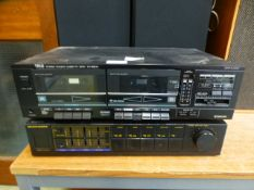 An Maraniz Equaliser together with a Trio stereo double cassette deck