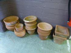 A selection of terra cotta garden pots