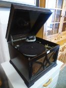 An early 20th century gramophone by HMV