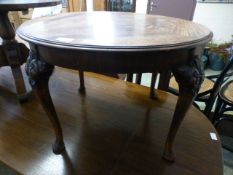 An early 20th century walnut occasional table
