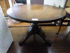 A modern oak occasional table