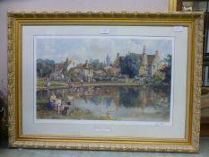 A framed and glazed limited edition Sturgeon signed print titled 'Biddestone,