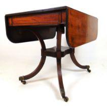 A late 19th century mahogany pembroke table,