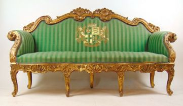A Georgian giltwood sofa from the estate of J.B.