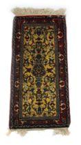 A handwoven Turkish rug,