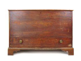 An 18th century elm mule chest,