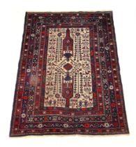 A handwoven Caucasian rug,