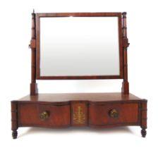 A Regency mahogany toilet mirror,