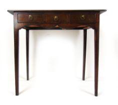 An 18th century mahogany side table,