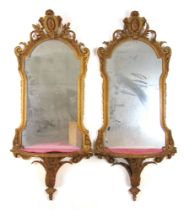 A pair of 19th century giltwood and gesso pier mirrors by C. Nosotti, Oxford St.