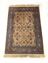 A handwoven Persian rug,