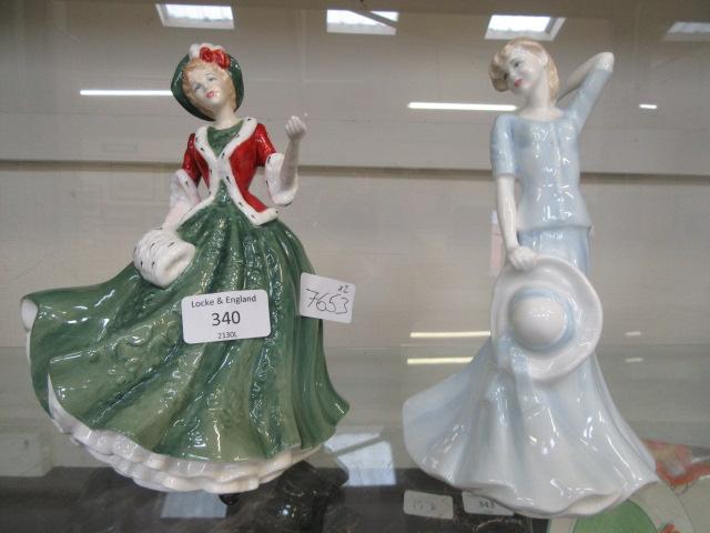 A Royal Doulton figurine 'Christmas Day 2000' HN4242 together with a Royal Doulton figurine Classic