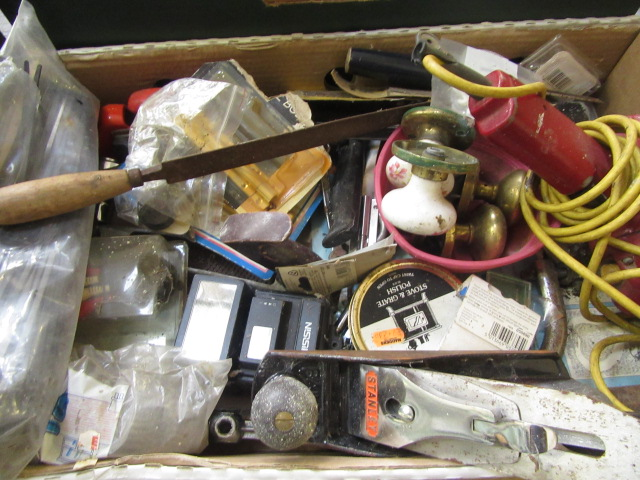 Four trays containing a large quantity of hand tools, spanners, chisels, tool boxes etc. - Image 6 of 8