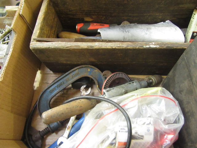 Four trays containing a large quantity of hand tools, spanners, chisels, tool boxes etc. - Image 8 of 8