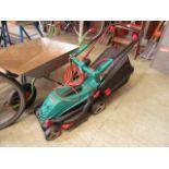 A Bosch electric lawn mower