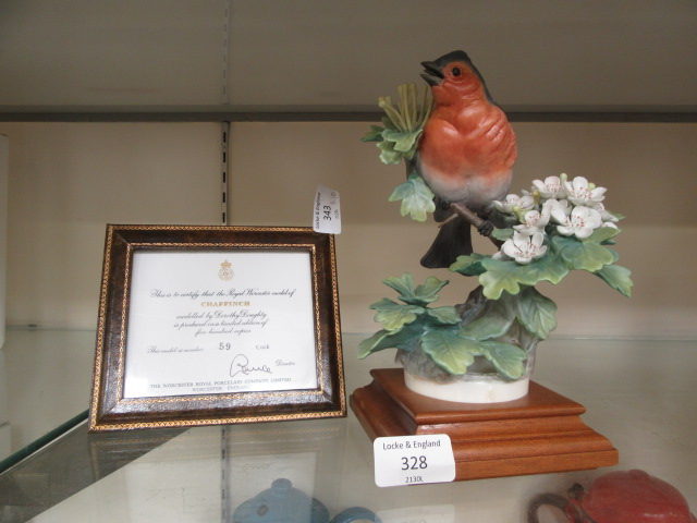 A Royal Worcester model of a chaffinch (A/F)