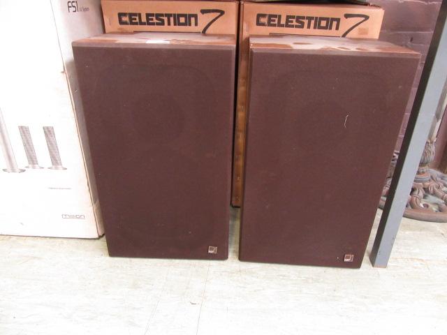 A pair of KEF speakers