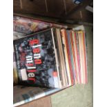 A box containing a quantity of LPs to include Nat King Cole, Glenn Miller, Frank Sinatra etc.