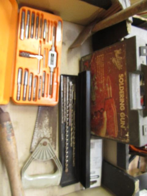 Four trays containing a large quantity of hand tools, spanners, chisels, tool boxes etc. - Image 3 of 8