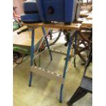 A folding workbench