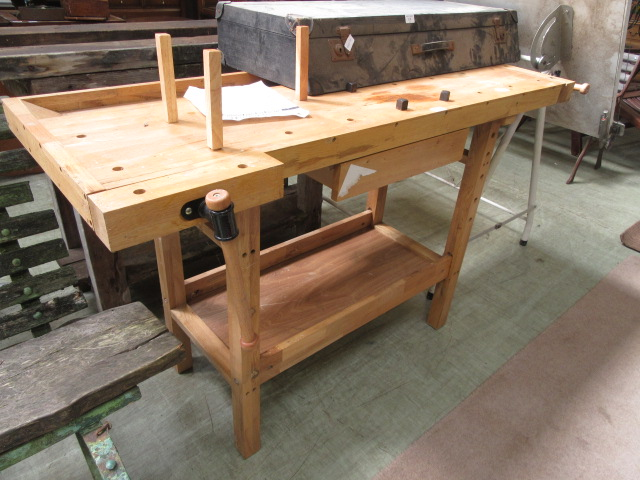 A woodworker's workbench