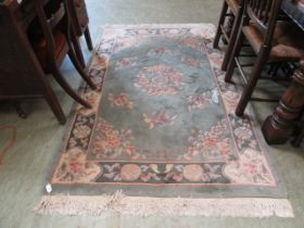 A blue ground Chinese rug