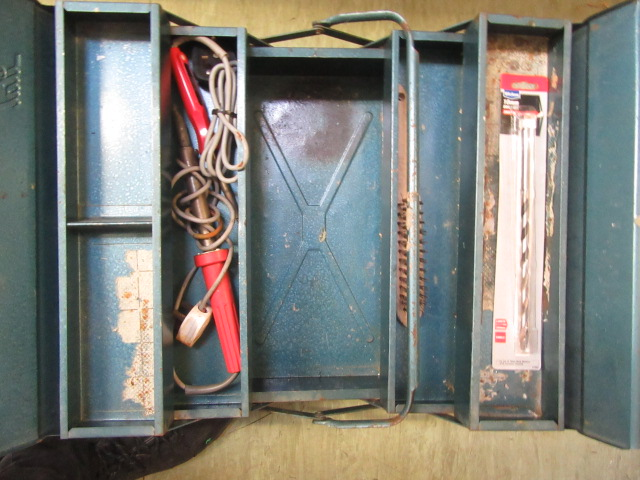Four trays containing a large quantity of hand tools, spanners, chisels, tool boxes etc. - Image 2 of 8