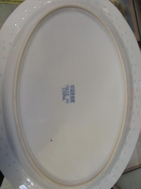 A ten place setting of Chinese rice pattern table ware CONDITION REPORT: No apparent - Image 8 of 8