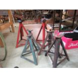 Three pairs of axle stands