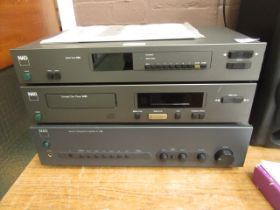 An NAD stereo tuner, CD player,