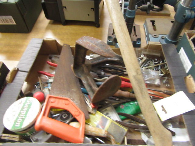 Four trays containing a large quantity of hand tools, spanners, chisels, tool boxes etc. - Image 5 of 8