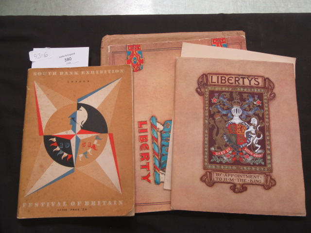 A selection of paper ephemera to include Liberty's catalogue, Festival of Britain catalogue etc.