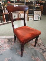 A late Victorian mahogany upholstered single chair