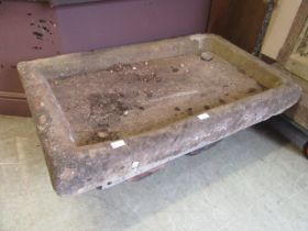 A large stone sink