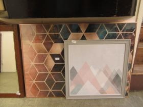 Two framed and glazed modern geometrical prints