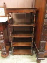 An early 20th century mahogany five tier hallway stand