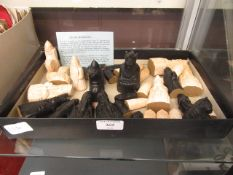 """A reproduction """"Isle of Lewis"""" chess set"""