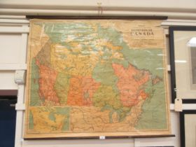 A Phillips smaller schoolroom map of the Dominion of Canada