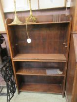 A set of oak open bookshelves