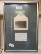 A framed and glazed photograph of the flooding at Bridge End Warwick in 1931
