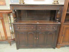 A reproduction oak court cupboard,