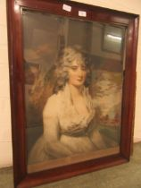 A framed and glazed early 20th century print of young lady